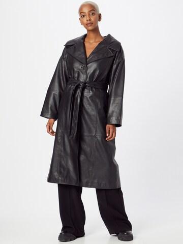Deadwood Between-Seasons Coat 'Olga' in Black
