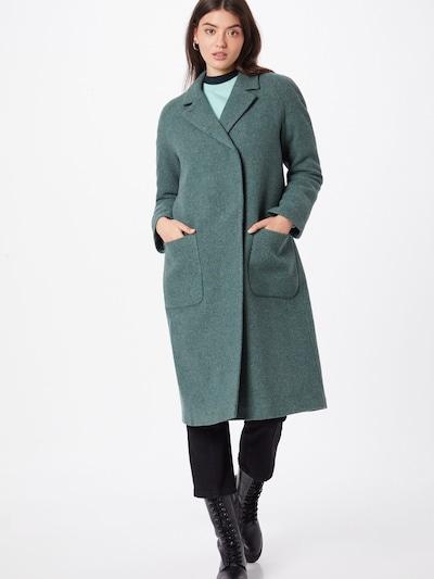 Brixtol Textiles Between-Seasons Coat 'Deb' in Emerald, View model