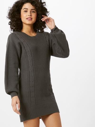 HOLLISTER Knit dress in Dark grey, View model