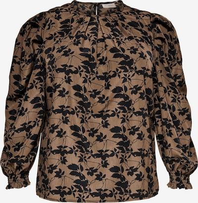 ONLY Carmakoma Bluse in braun / schwarz, Produktansicht