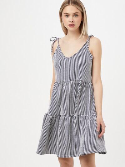 ABOUT YOU Obleka 'Charlotte' | temno modra / bela barva, Prikaz modela