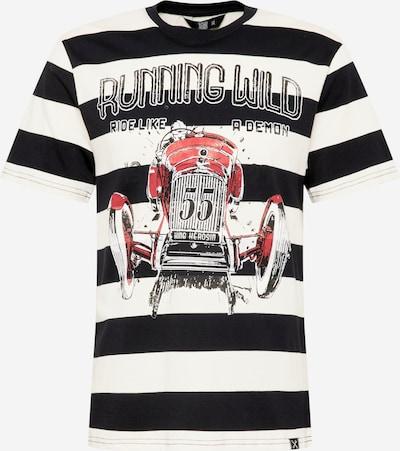 King Kerosin T-Shirt 'Running Wild' en grenadine / noir / blanc, Vue avec produit
