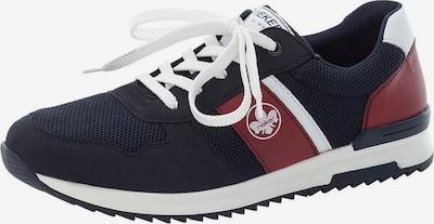 Sneaker low RIEKER pe bleumarin / roșu merlot / alb, Vizualizare produs