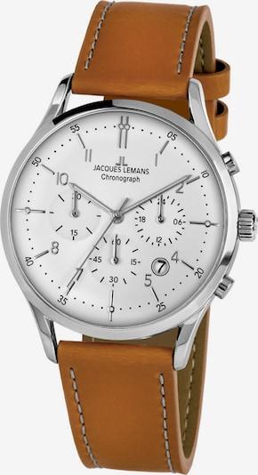 Jacques Lemans Uhr in hellbraun / silbergrau, Produktansicht
