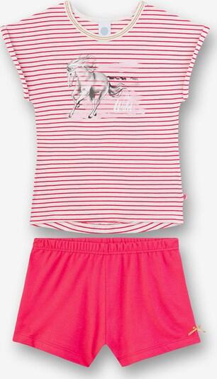 SANETTA Pyjama in pink / neonpink / weiß, Produktansicht