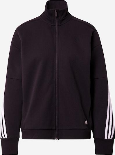 Bluză cu fermoar sport ADIDAS PERFORMANCE pe negru / alb, Vizualizare produs