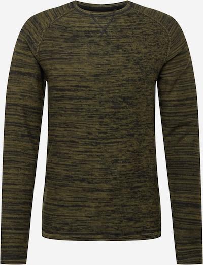 BLEND Pullover in oliv / grünmeliert, Produktansicht