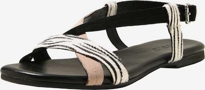 INUOVO Sandalen in mischfarben / schwarzmeliert: Frontalansicht
