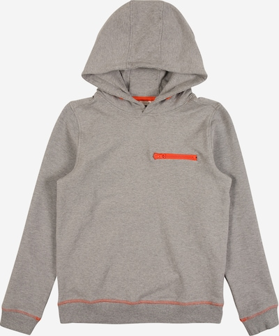 NAME IT Sweatshirt 'NEW SCHOOL' in graumeliert / orange, Produktansicht