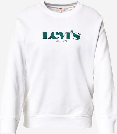 LEVI'S Sweatshirt in smaragd / weiß, Produktansicht