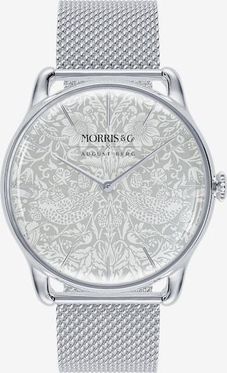 August Berg Uhr 'MORRIS & CO Silver Mesh 38mm' in silber / weiß, Produktansicht