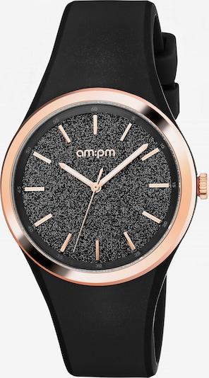 AM:PM Quarzuhr 'Sparkling' in schwarz, Produktansicht