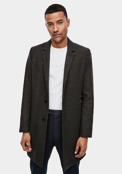 s.Oliver BLACK LABEL Wollmantel im Classic Shape in khaki, Modelansicht