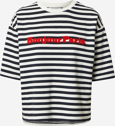 NAF NAF Тениска 'ODAMAS' в нощно синьо / червено / бяло, Преглед на продукта