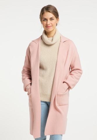 Manteau en tricot Usha en rose