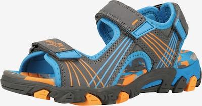 SUPERFIT Sandale in türkis / grau / orange, Produktansicht
