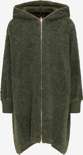 sötétzöld taddy Kötött kabát, Termék nézet