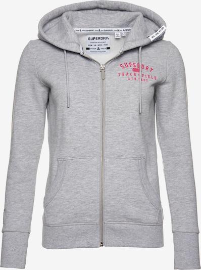 Superdry Jacke 'Track & Field' in graumeliert / pink, Produktansicht
