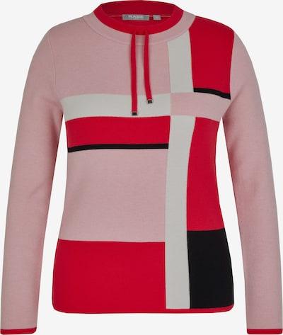 Rabe Pullover in hellpink / rot / schwarz / weiß, Produktansicht