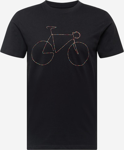 DEDICATED. T-Shirt 'Stockholm Rainbow Bicycle' in mischfarben / schwarz, Produktansicht