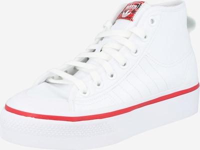 ADIDAS ORIGINALS Baskets hautes 'Nizza' en rouge clair / blanc, Vue avec produit