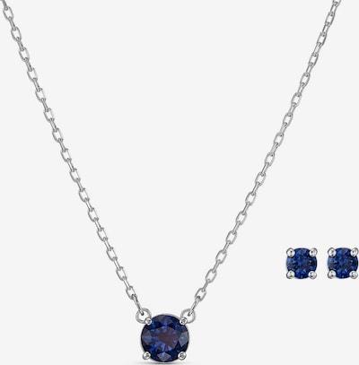 Swarovski Parure de bijoux 'Attract Round' en saphir / argent, Vue avec produit
