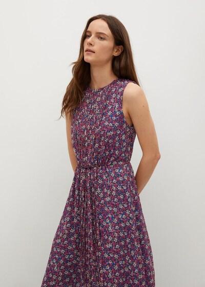 MANGO Kleid 'Mina' in blau / gelb / pink, Modelansicht
