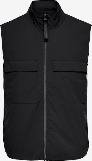 Only & Sons Weste 'Shepard' in schwarz, Produktansicht