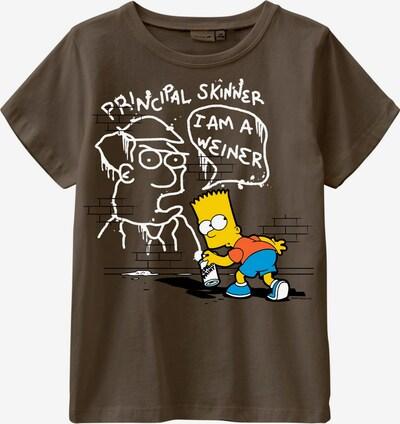 NAME IT T-Shirt 'Simpsons Kacper' in gelb / anthrazit / orange / weiß, Produktansicht