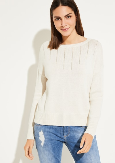 COMMA Pullover in beige: Frontalansicht