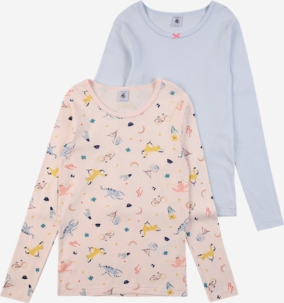 PETIT BATEAU Unterhemd in hellblau / gelb / orange / pastellpink / weiß, Produktansicht