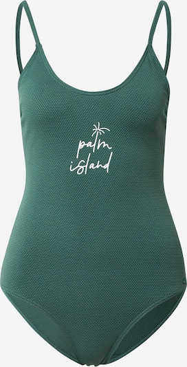 PROTEST Sports swimsuit 'PUCK' in Jade / Dark green / White, Item view