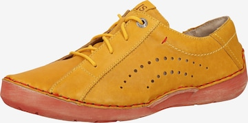 JOSEF SEIBEL Athletic Lace-Up Shoes 'Fergey 73' in Yellow