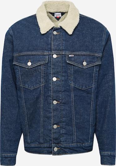 Geacă de primăvară-toamnă Tommy Jeans pe denim albastru / alb, Vizualizare produs