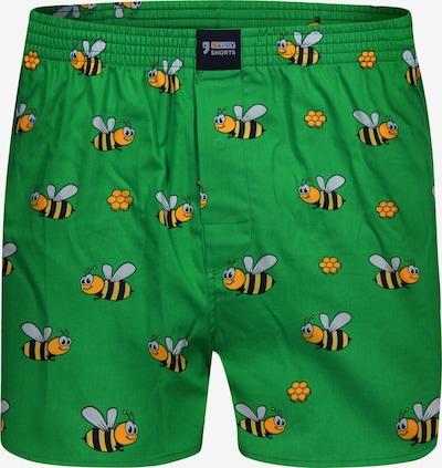 Happy Shorts Boxershorts ' Motive ' in grasgrün, Produktansicht