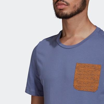 ADIDAS PERFORMANCE Functioneel shirt 'TERREX' in de kleur Violetblauw, Productweergave