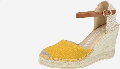 MACARENA Sandale 'CAR12LV' in beige / braun / senf, Produktansicht