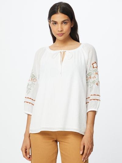 Bluză 'Gabby' ESPRIT pe verde pastel / roșu / alb, Vizualizare model