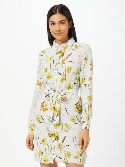PIECES Kleid 'LILLIAN' in senf / goldgelb / oliv / naturweiß, Modelansicht