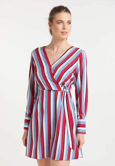 usha BLUE LABEL Kleid in hellblau / blutrot / weiß, Modelansicht
