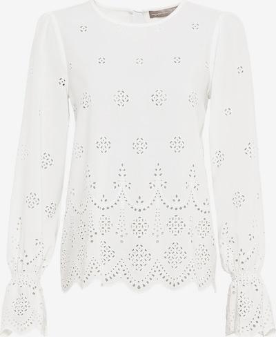 HALLHUBER Bluse mit Lochstickerei in weiß, Produktansicht