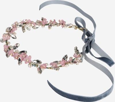 We Are Flowergirls Haarschmuck 'Jane Birkin' in hellblau / oliv / rosa / silber, Produktansicht