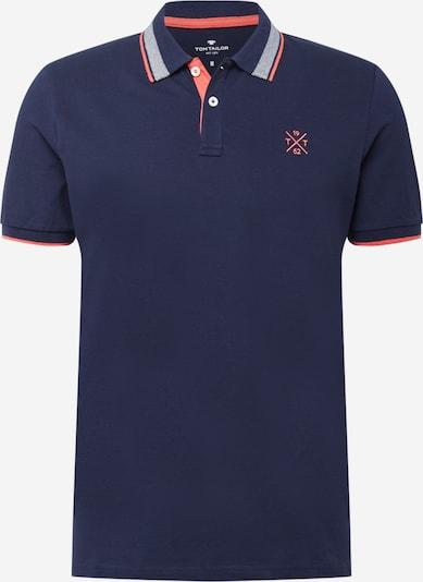 TOM TAILOR T-Krekls tumši zils / oranžs / balts, Preces skats