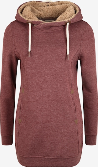 Oxmo Hoodie 'Vicky Pile Hood Long' in altrosa / rot / weinrot, Produktansicht