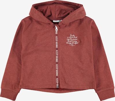 NAME IT Gornji dio trenirke 'Latti' u pastelno crvena / bijela, Pregled proizvoda
