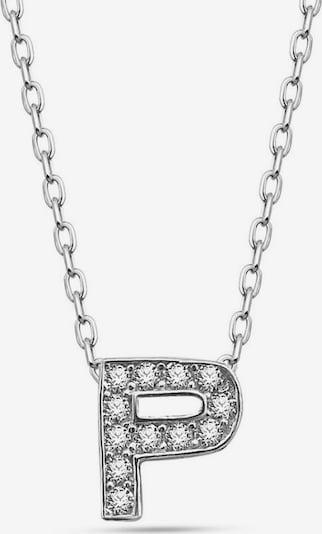 Dkeniz Ketting 'BUCHSTABE P' in de kleur Zilver, Productweergave