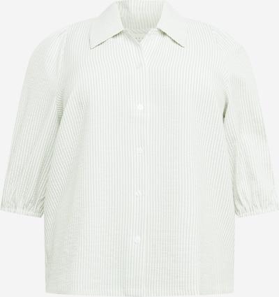 Bluză 'Sukia' KAFFE CURVE pe verde pastel / alb, Vizualizare produs