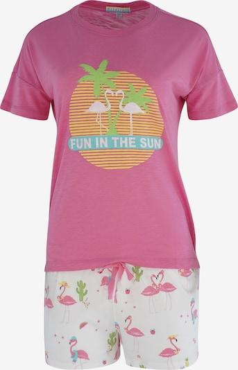 PJ Salvage Korte pyjama in de kleur Pink / Wit, Productweergave