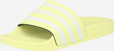 ADIDAS ORIGINALS Pantolette 'Adilette' in zitronengelb / weiß, Produktansicht