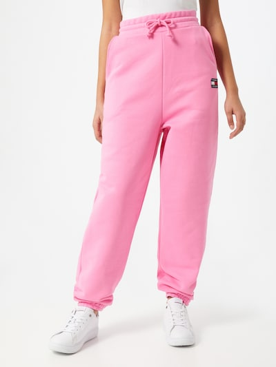 sötétkék / világos-rózsaszín / dinnye / fehér Tommy Jeans Nadrág, Modell nézet